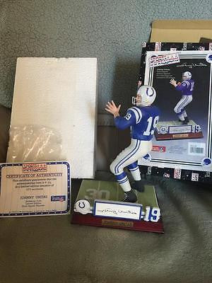JOHNNY UNITAS SIGNED AUTO AUTOGRAPH SPORTS IMPRESSIONS LTD#  66/975