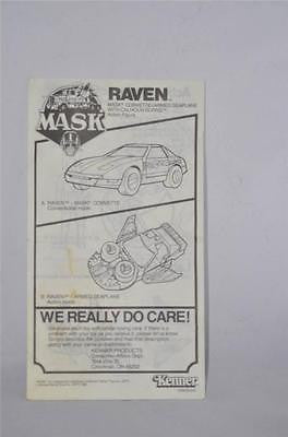 VINTAGE G1 1986 MASK M.A.S.K. RAVEN INSTRUCTIONS