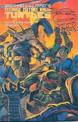 MIRAGE TMNT TEENAGE MUTANT NINJA TURTLES COLLECTED BOOK #4 UNREAD SIGNED LAIRD