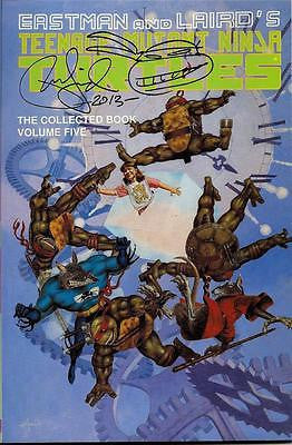 MIRAGE TMNT TEENAGE MUTANT NINJA TURTLES COLLECTED BOOK #5 UNREAD SIGNED LAIRD