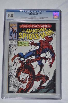 MARVEL 1962 SERIES AMAZING SPIDER-MAN #361 CGC 9.8 WHITE PAGES FIRST CARNAGE
