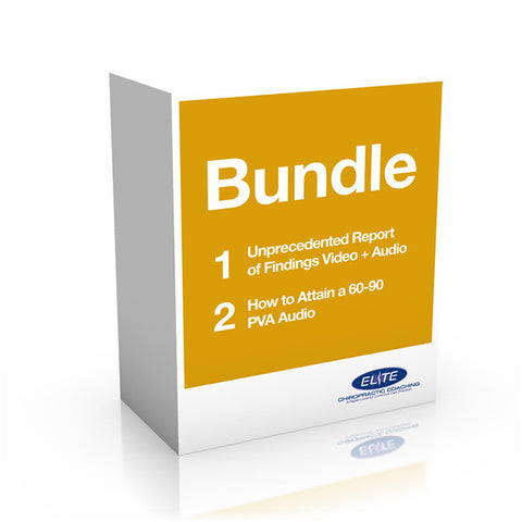 Bundle: Unprecedented Report of Findings DVDs, Audio CDs and How to Attain a 60-90 PVA Audio CDs