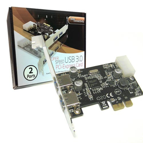 SYBA USB 3.0 PCI-e x1 2.0 Card with 2 External ports
