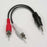6 inch 3.5mm Stereo Plug to 2xRCA-M Cable