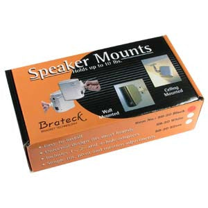 Speaker Mount (2pc/set), SB-20 Black Plastic