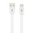 39.9'' Braided Cable For Micro USB 2.0 Devices White