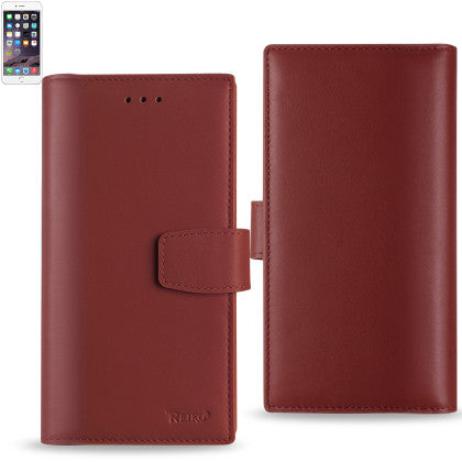 Genuine Leather Hidden Wallet Case for Iphone 6/ 6S Plus 5.5'