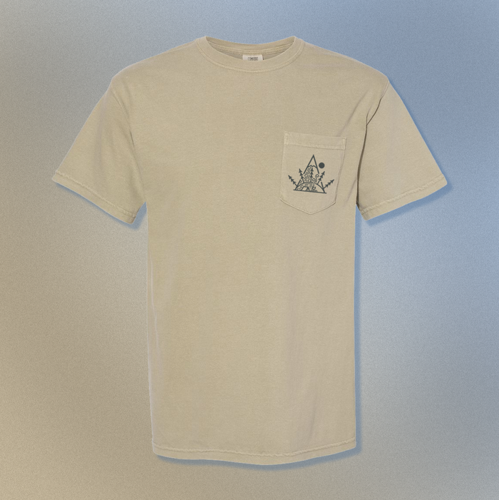 Camping Trees |  Pocket T - Khaki