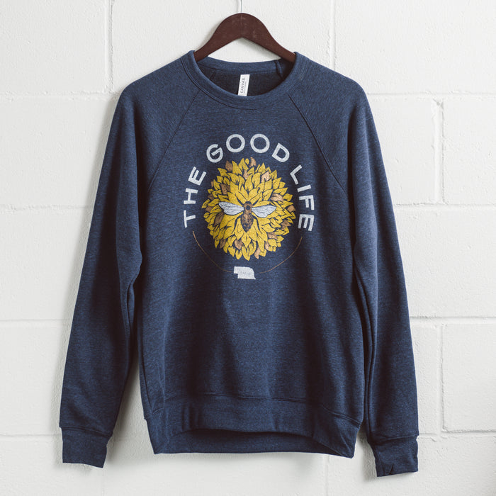 The Good Life Bee | Crewneck Sweatshirt | Blue