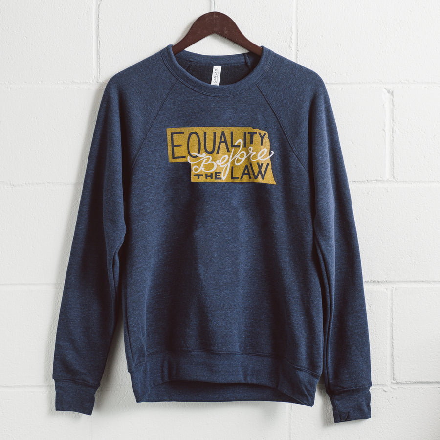 Nebraska State Motto - blue crewneck