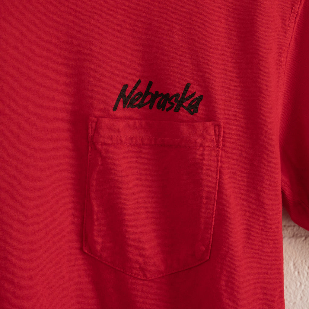 Nebraska Red and Black Pocket T
