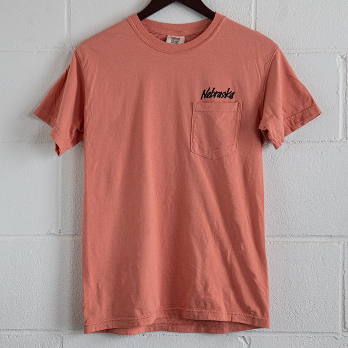 Nebraska Peach Pocket T