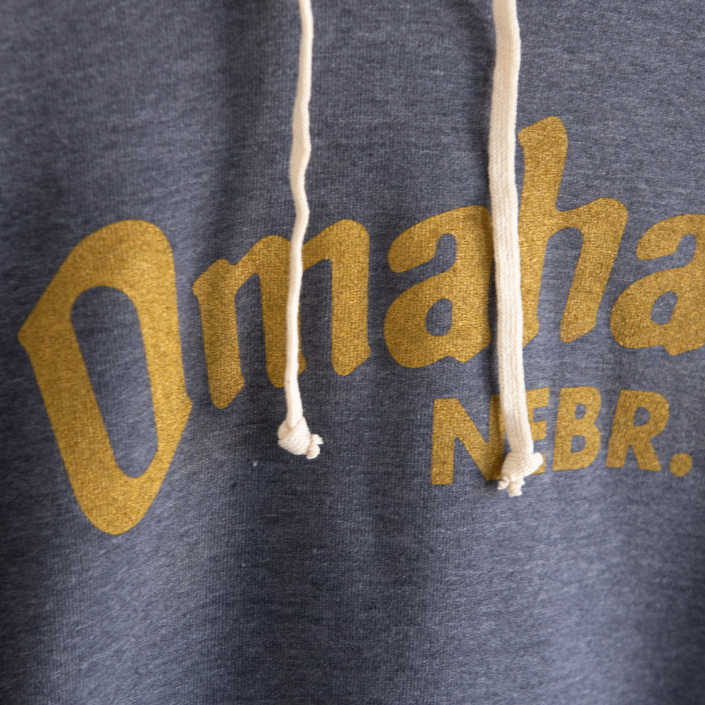 Omaha Nebraska Heather Blue Pullover Hoodie