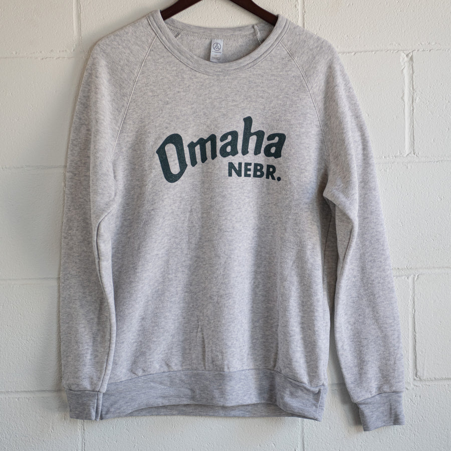 Omaha Nebraska Light Grey Crewneck