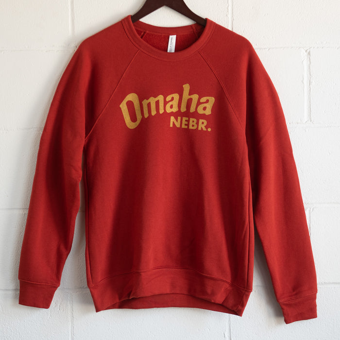 Omaha Nebraska Brick and Mustard Crewneck