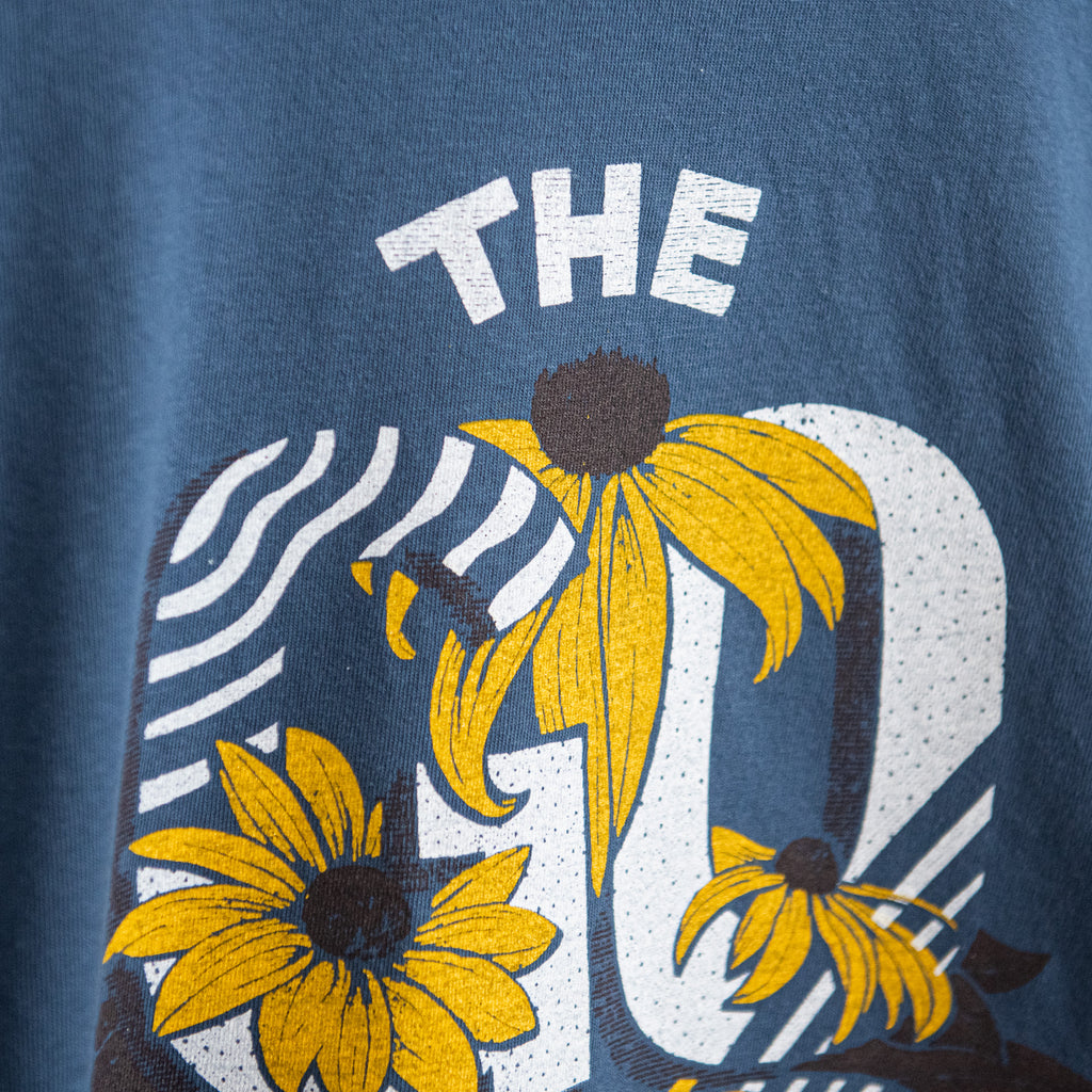 The Good Life Flower Longsleeve - Midnight Blue