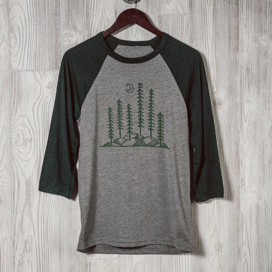 Rolling Trees | Forest Green | Baseball T