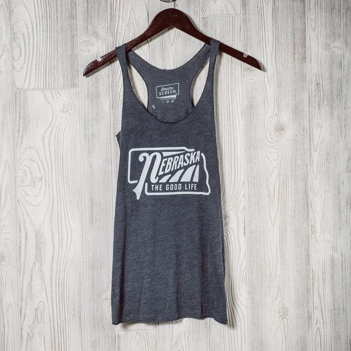 The Good Life | Womens Tank | Heather Navy
