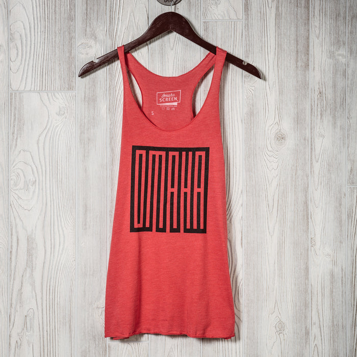 Omaha | Womens Tank | Heather Red