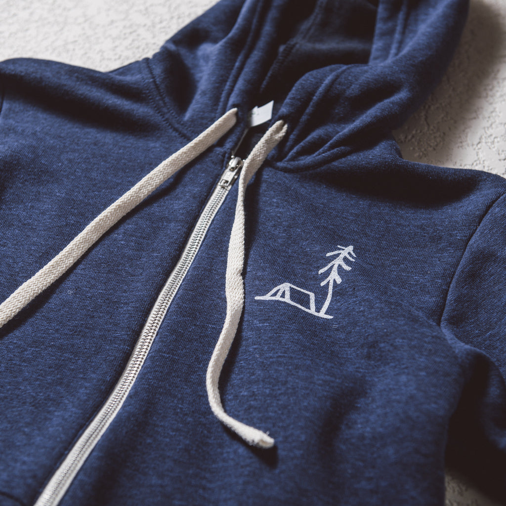 Simple is Better Hoodie | Heather Blue