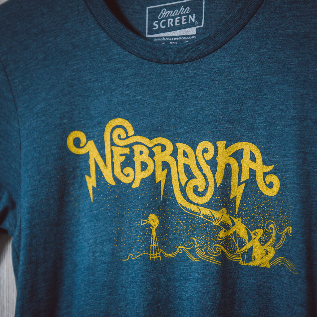 Nebraska Twister | Heather Teal