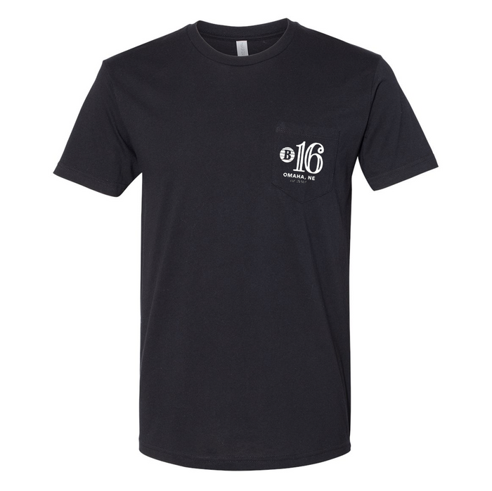 Block 16 - Ten Year Anniversary Pocket T - Black