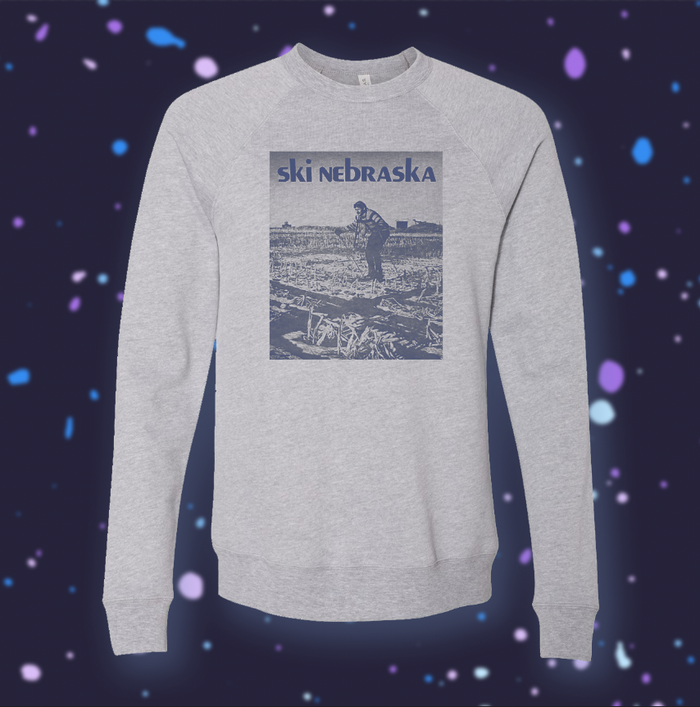 Ski Nebraska | Snow Grey Crewneck