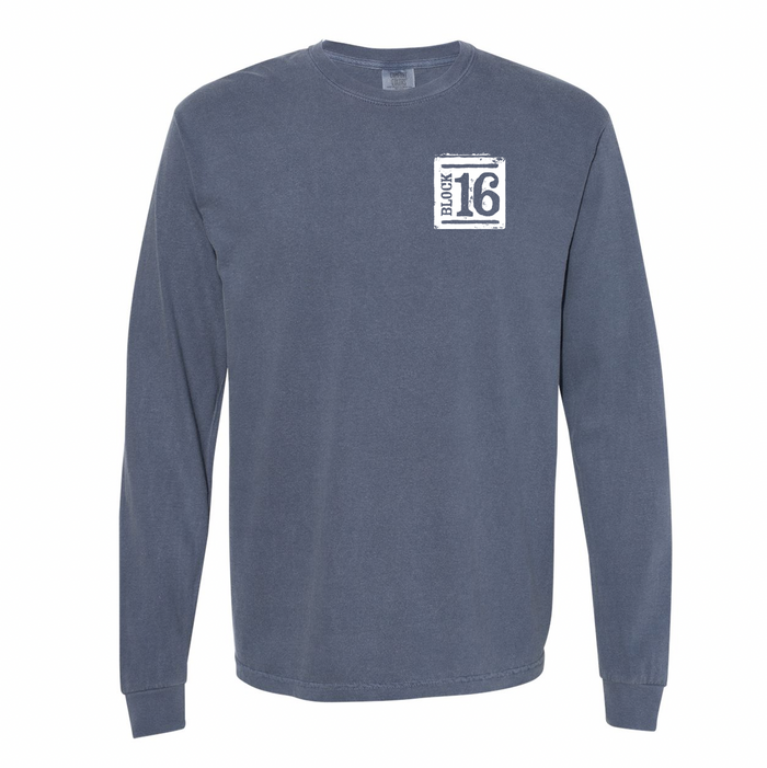 Block 16 - Bike Long Sleeve - Denim Blue