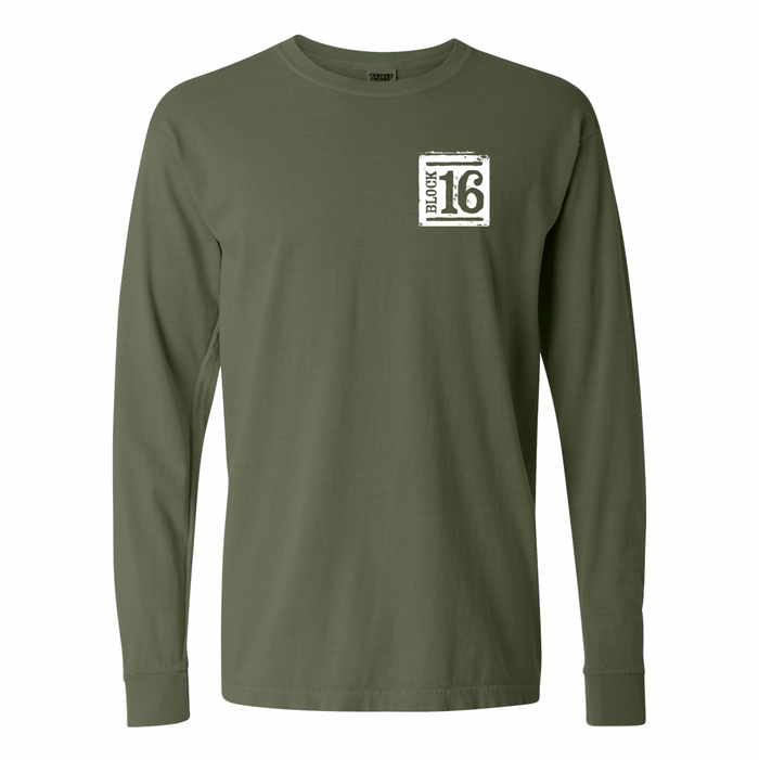 Block 16 - Pig Long Sleeve - Hemp Green