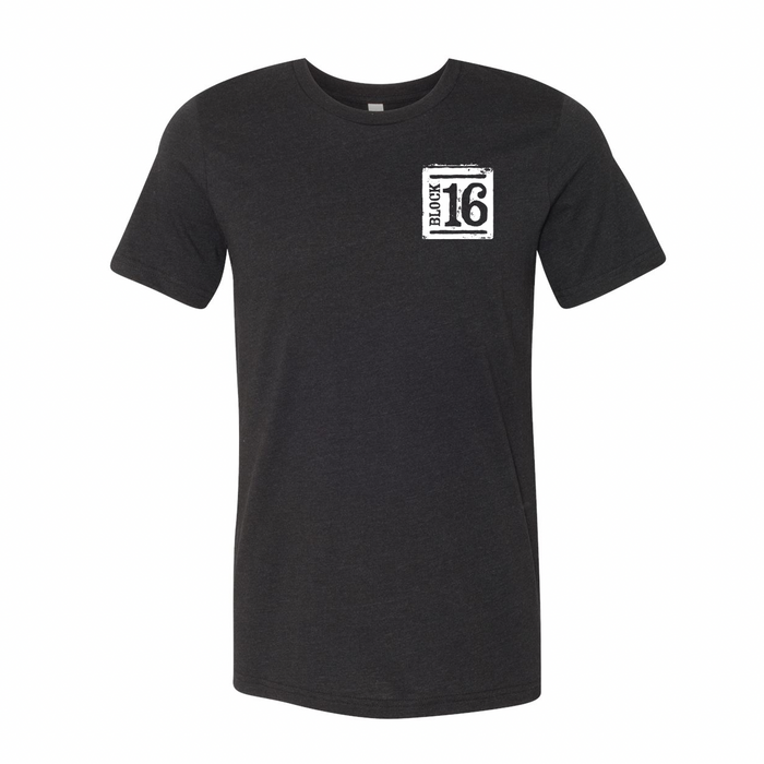 Block 16 - OG Shirt design - Heather Black