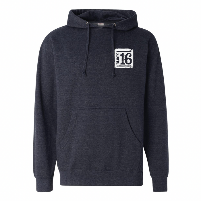 Block 16 - Hoodie - Heather Blue