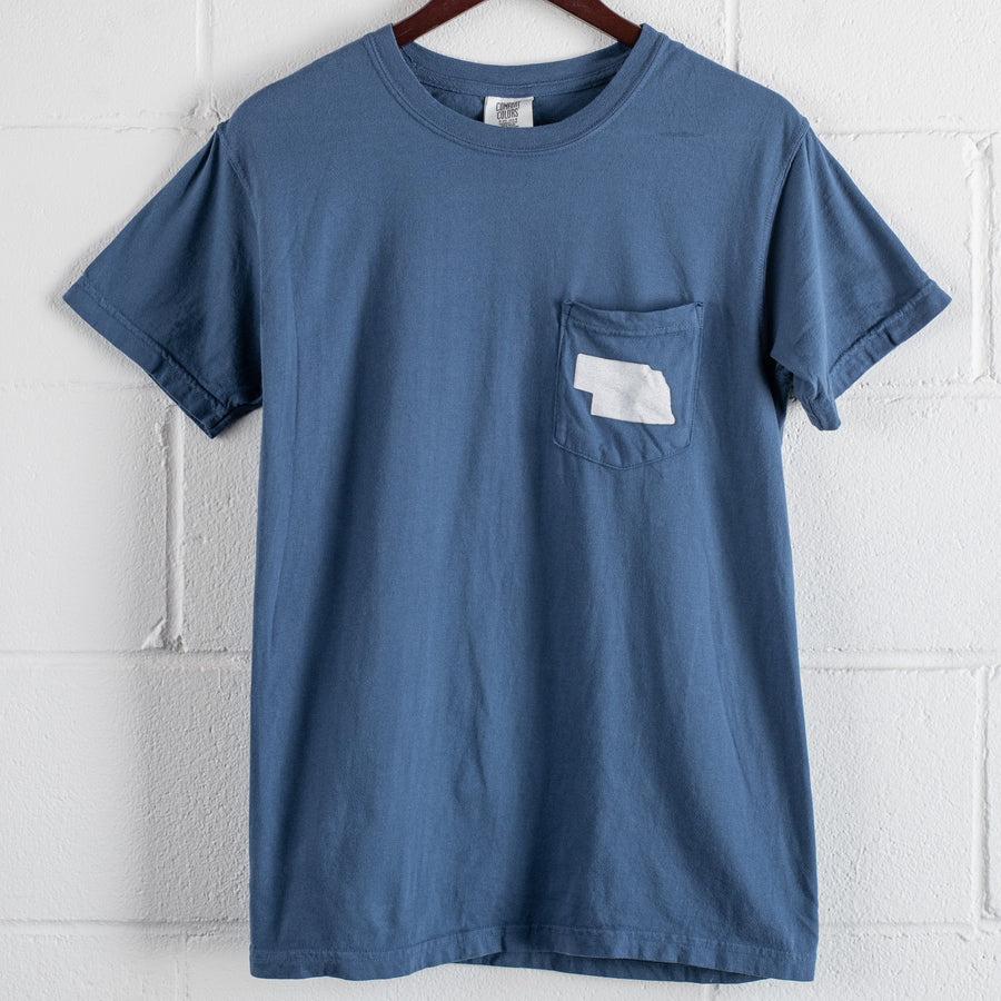Nebraska Pocket T | Midnight Blue