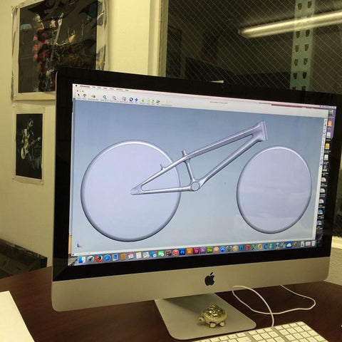 Supercross BMX ENVY BLK Carbon Fiber Racing Frame Cad Image