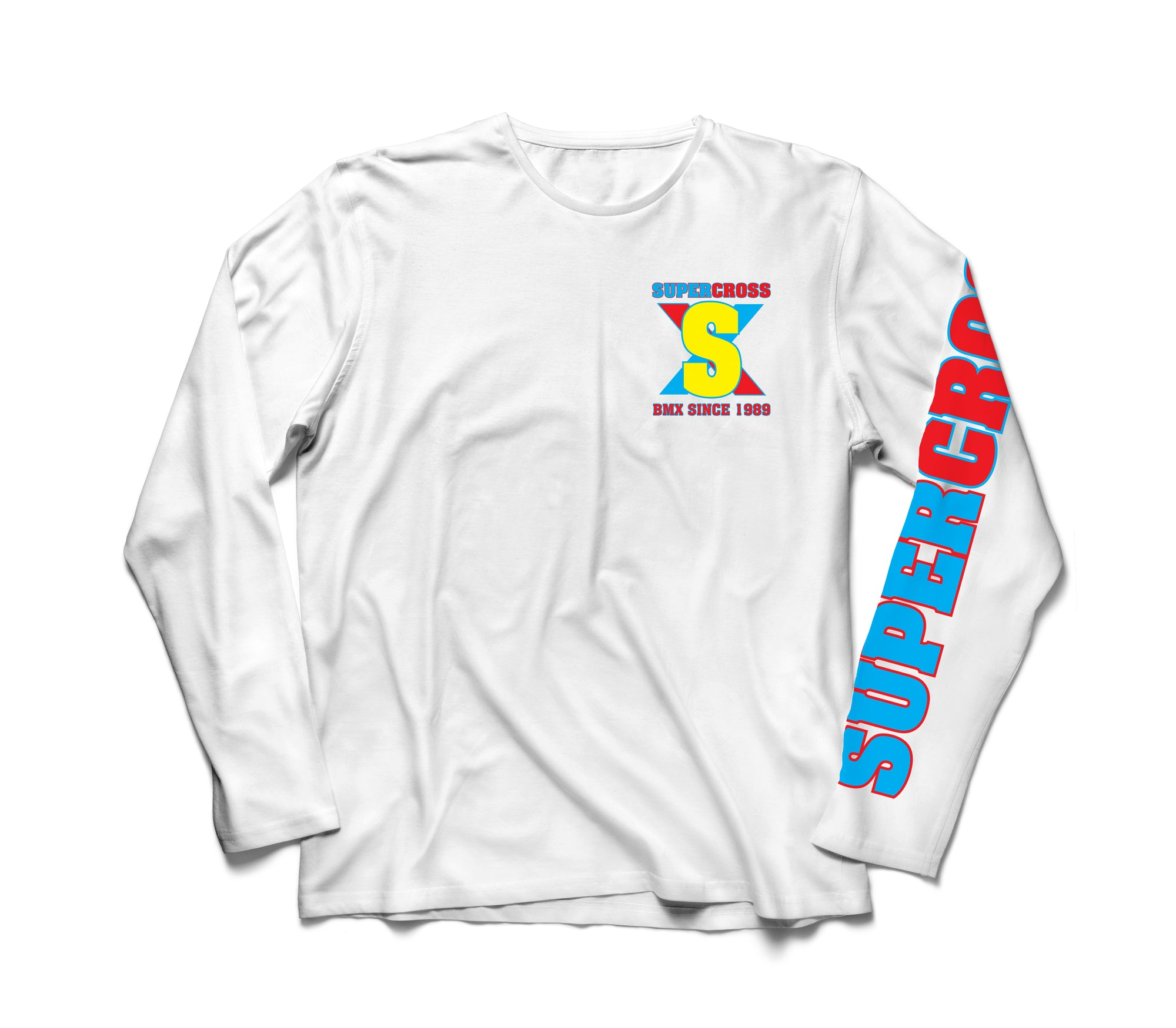 Supercross BMX | Long Sleeve Retro T- Shirt - Supercross BMX - BMX Racing
