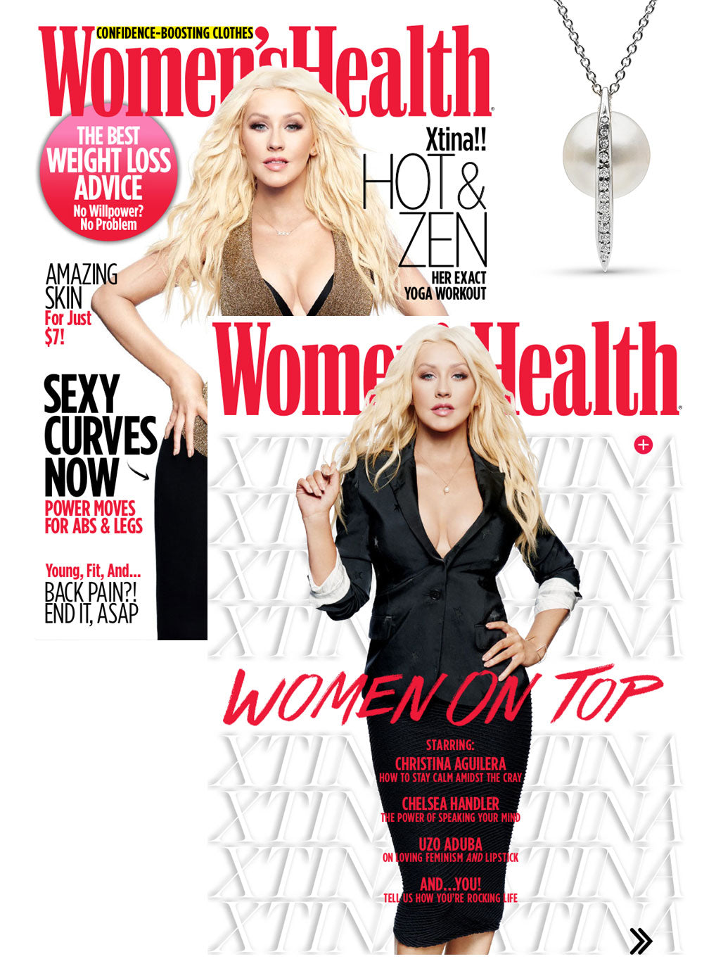 Pearl Collective Spike Pendant Christina Aguilera Women's Health