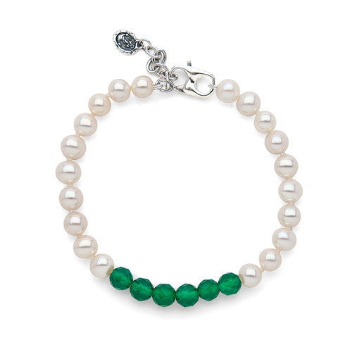 Green Agate Color Block Bracelet