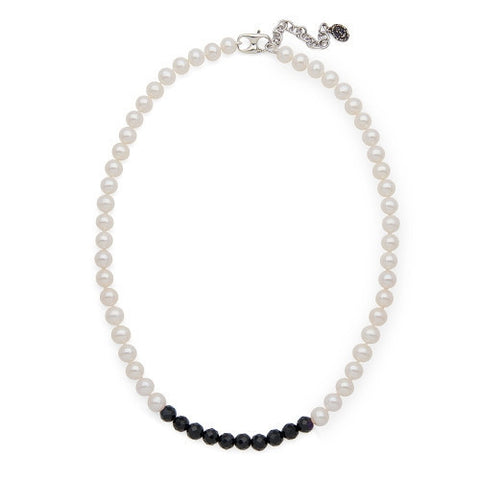 Black Onyx Color Block Necklace