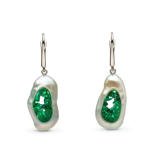 Grotto Collection Emerald Earrings