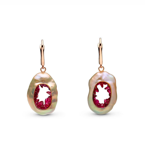 Grotto Collection Ruby Earrings
