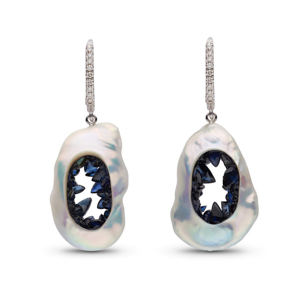 Grotto Collection Sapphire Earrings