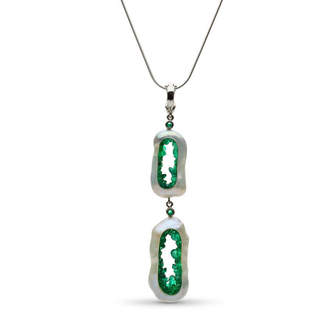 Grotto Collection Emerald Pendant/Enhancer