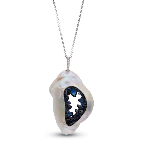Grotto Collection Sapphire Pendant