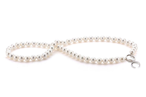 18-Inch Pearl Necklace with Toggle Clasp