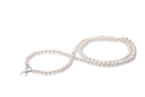 35-Inch Pearl Necklace with Toggle Clasp