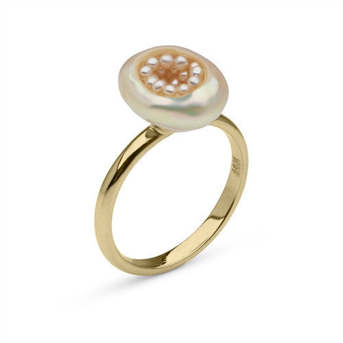 Baroque Freshwater and Seed Pearl Ring