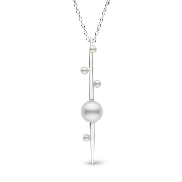 Petite Crescentic Pearl Pendant in Sterling Silver