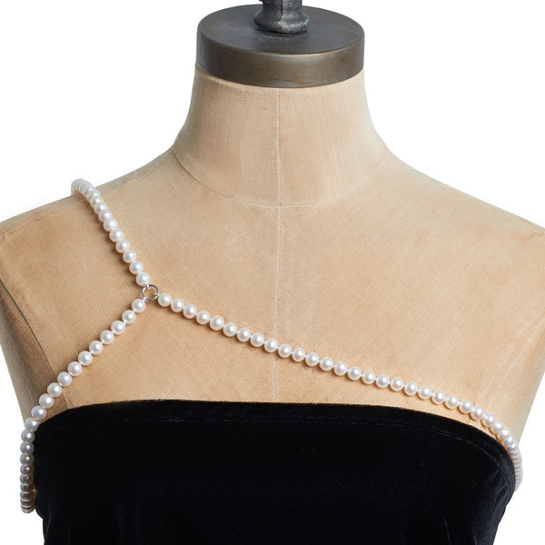 Freshwater Pearl One Shoulder Harness