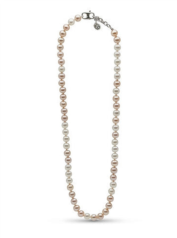 "Pink and White Pearl ""Life Is Tough But So Are You"" Necklace"
