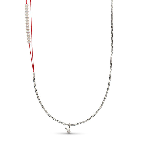 29-inch Pearl Station and Chain Necklace With Pearl Station