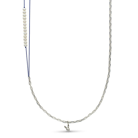 35-inch Pearl Station and Chain Necklace With Pearl Station
